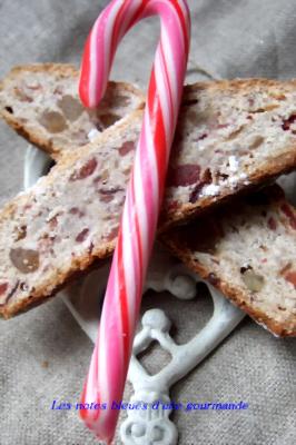 Stollen aux cranberries, par Valérie du blog Les notes bleues d'une gourmande