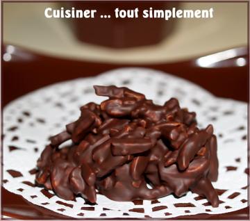 Petites bouchées croquantes choco amandes, par Nathalie du blog Cuisiner... tout simplement
