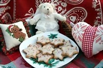 Etoiles de Noël glacées, par Guylaine du blog Cuisine Guylaine