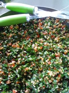 Taboulé vert libanais